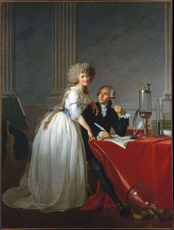 Lavoisierと彼の妻Marie Anne   Jacques Louis Davidの肖像