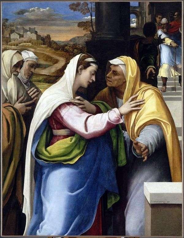 メアリーとエリザベスの会   Sebastiano del Piombo