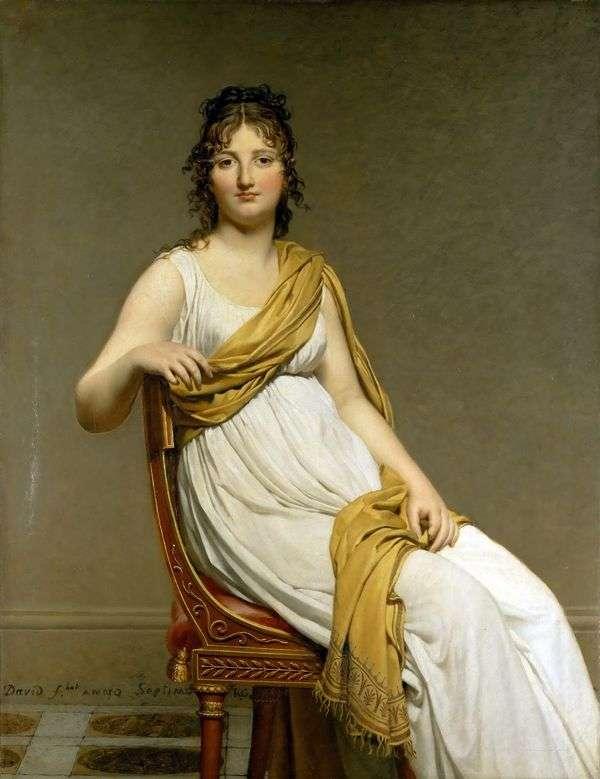 Henriette de Vernignacマダム   Jacques Louis Davidの肖像