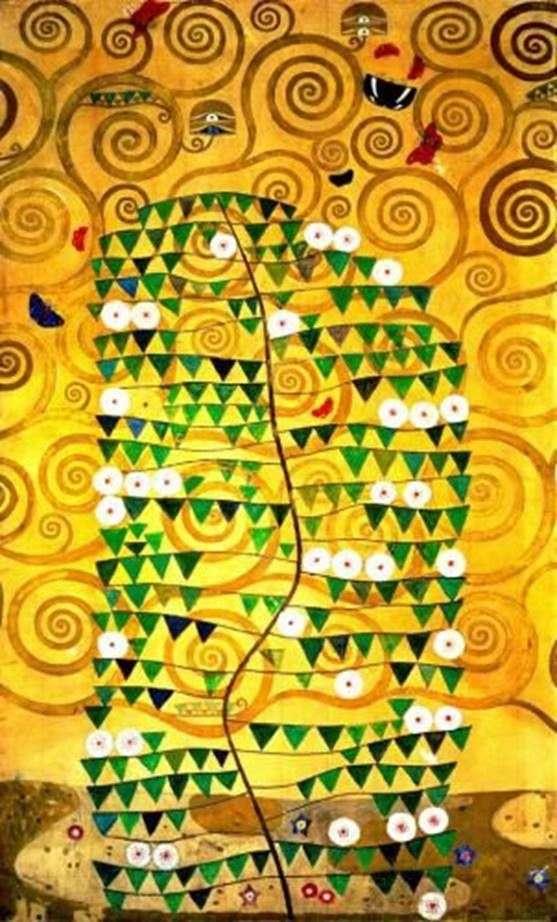 Stole Palace   Gustav Klimtのダイニングルームのパネル