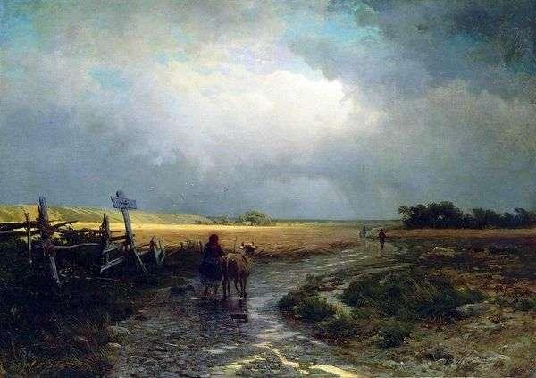 雨の後 カントリーロード   Fedor Vasilyev