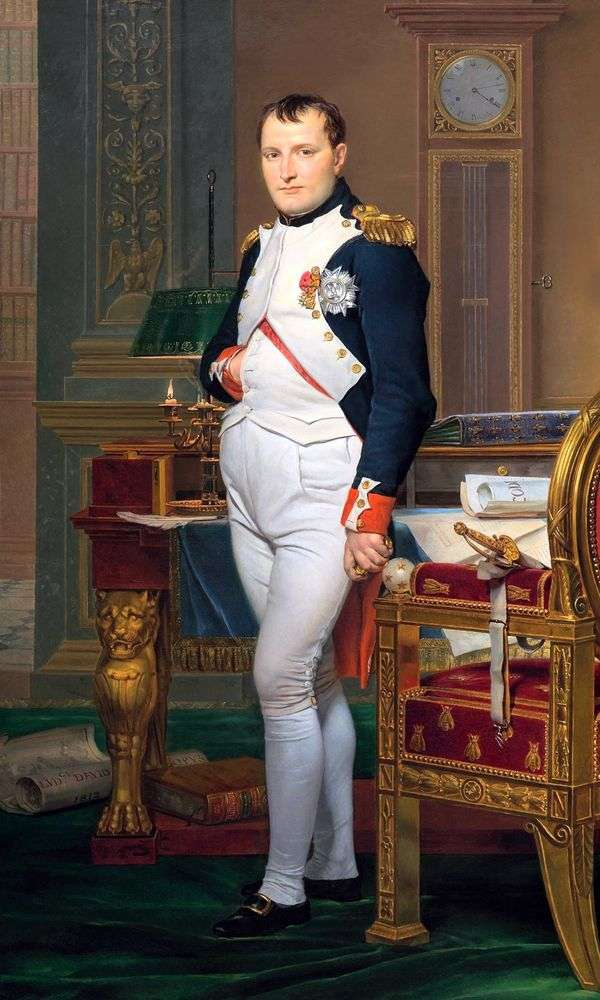 皇室   ジャック・ルイ・ダビデのナポレオンの肖像画