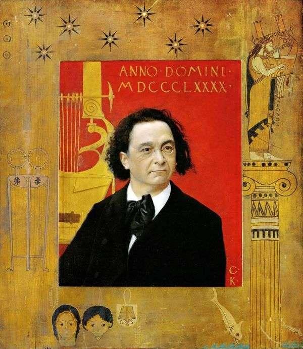 ジョセフ・ペンバウアー、ピアニスト、音楽教師   グスタフ・クリムトの肖像
