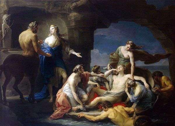カイロンはアキレスを母親のテティスに返還   バトニポンピオ