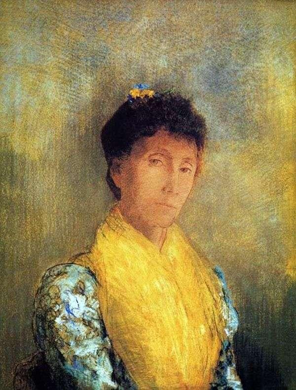 黄色の女性   Odilonルドン