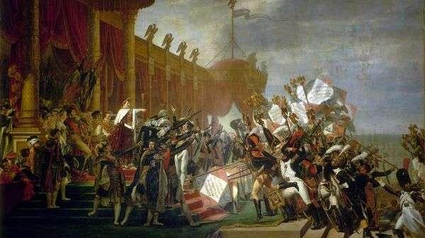 イーグルスの分布   Jacques Louis David