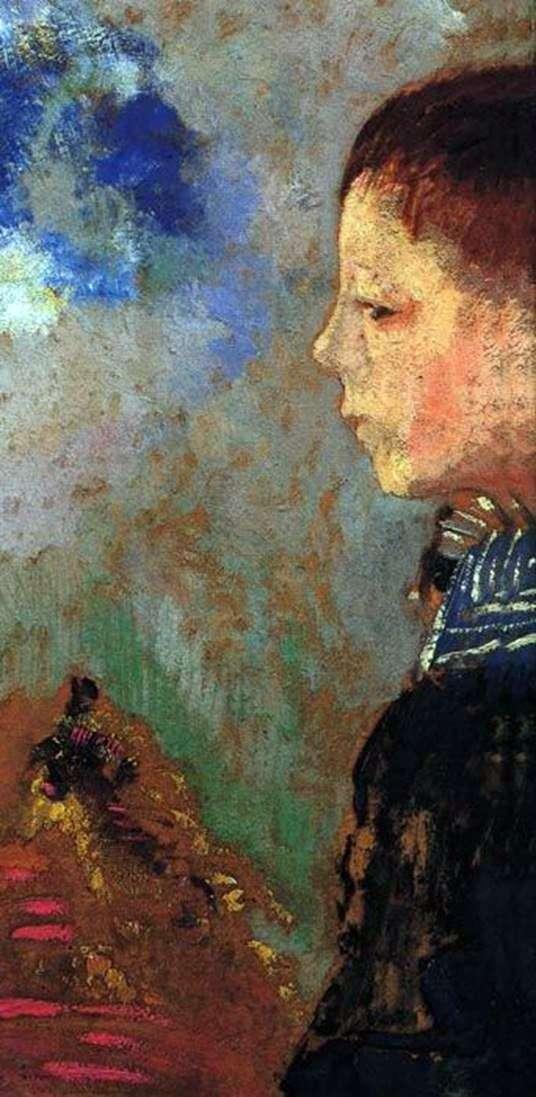 ブルーカラーのあるアリの肖像   Odilon Redon