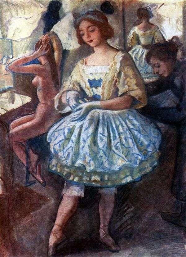 バレエ衣装「妖精人形」   Zinaida SerebryakovaのバレリーナE. A. Svekisの肖像画