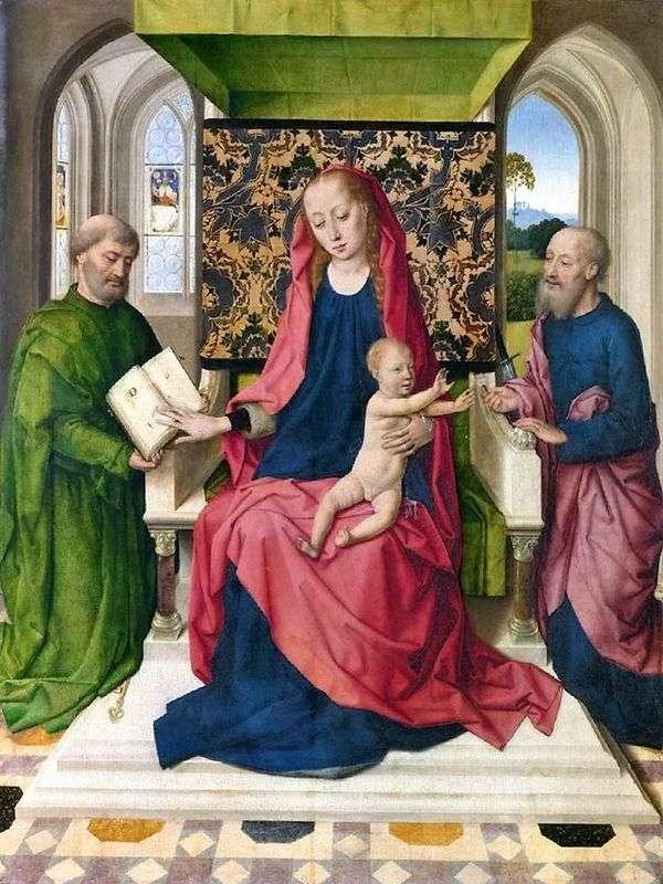 聖者ピーターおよびポール   Dirk Boutsと王位のマドンナと子供