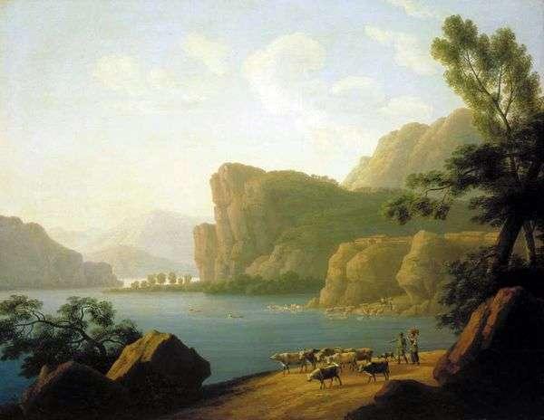 シベリア   アンドレイ・マルティノフのセレンガ川の眺め