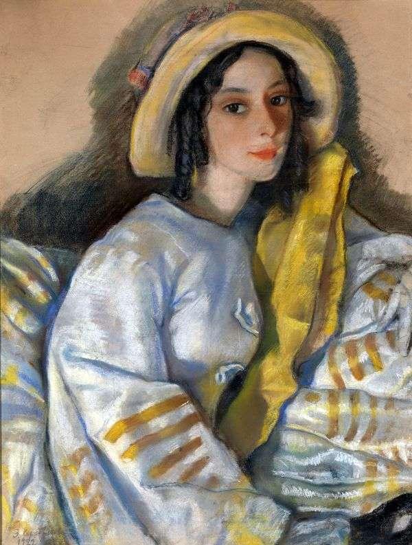 M. H. Frangopulo   Zinaida Serebryakovaの肖像画
