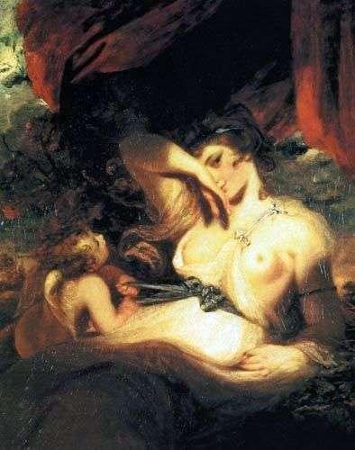 キューピッドは金星のベルトを解き放つ   Joshua Reynolds