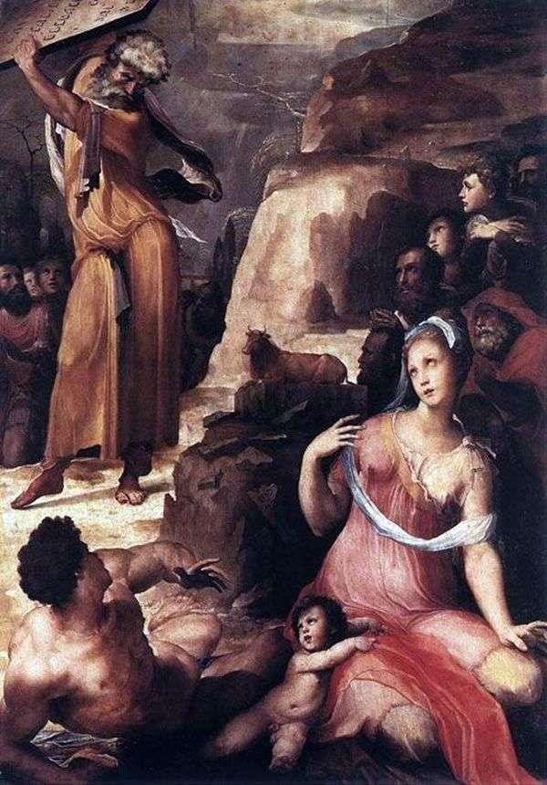 モーセと黄金の子牛   Domenico Bekafumi