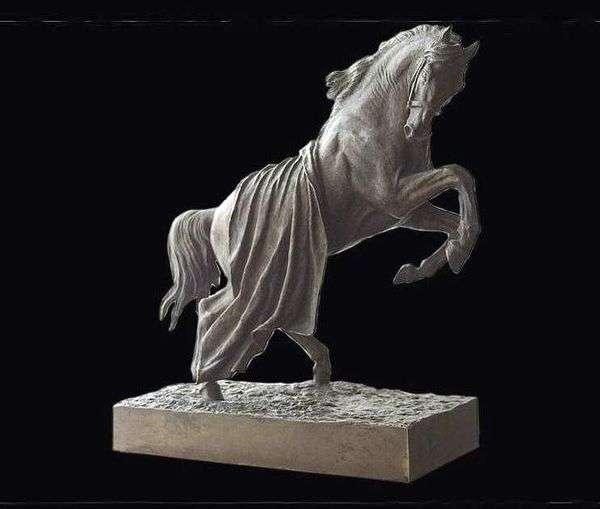 馬に覆われた馬の飼育   Peter Klodt