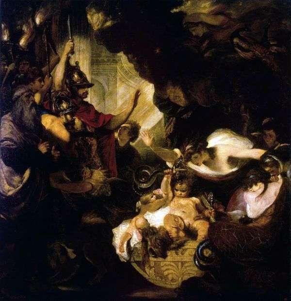Baby Hercules Strangling Serpents   ジョシュアレイノルズ