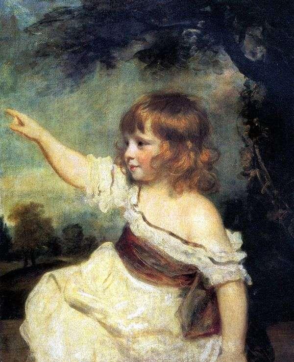 子供としての女性ジョーンズの肖像   Joshua Reynolds