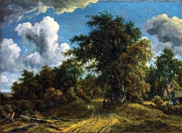森への道   Meindert Hobbema