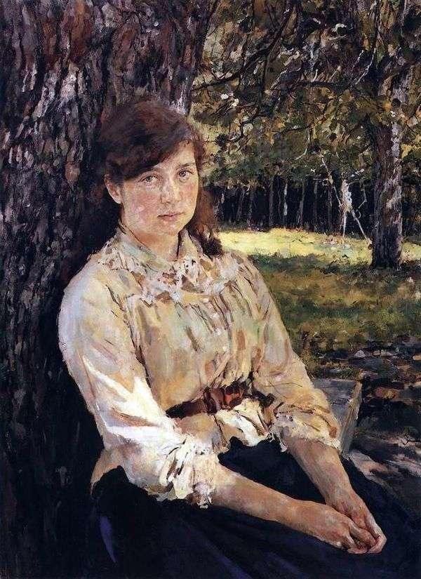 太陽に照らされた少女(M. Ya。Simonovichの肖像)   バレンティンセロフ