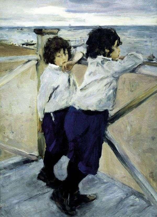 海辺の子供たち(Sasha and Yura Serov)   バレンティンセロフ