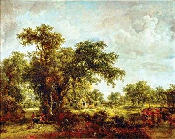 農場の風景   Meindert Hobbema