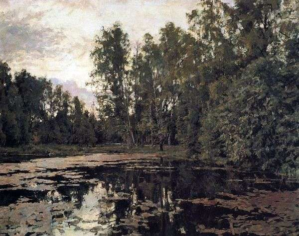 生い茂った池。Domotkanovo   バレンティンセロフ