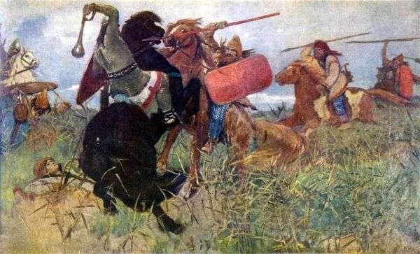 スラブ人とのスキタイ人の戦い   Victor Vasnetsov