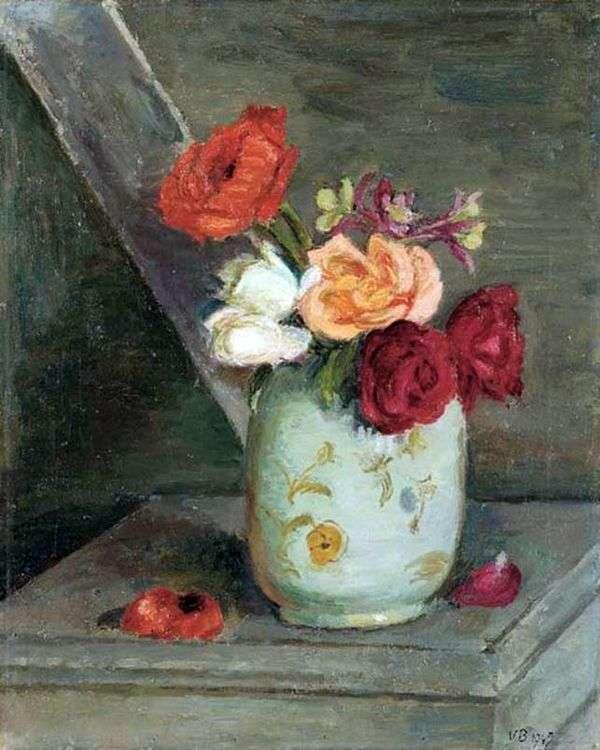 中国の花瓶のバラ   ヴァネッサベル
