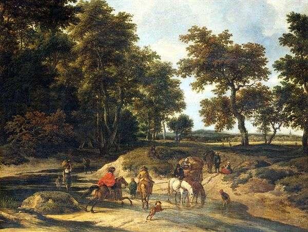 森の中   Jacob van Ruysdal
