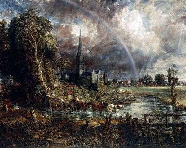 草原   ジョン・コンスタブルからソールズベリー大聖堂の眺め