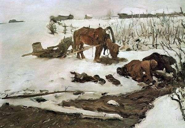 リネンストライピング(川上)   Valentin Serov