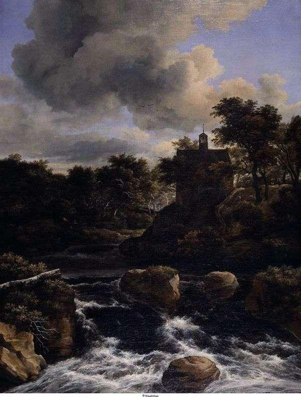 森の中の滝   Jacob van Ruisdal