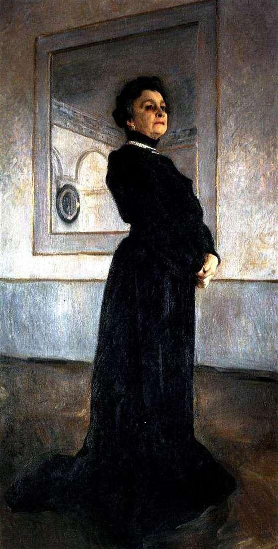 女優M. N. Yermolova   Valentin Serovの肖像