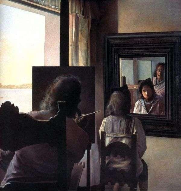 彼の背中を向けて、ダリはガラの肖像画を書いた   Salvador Dali
