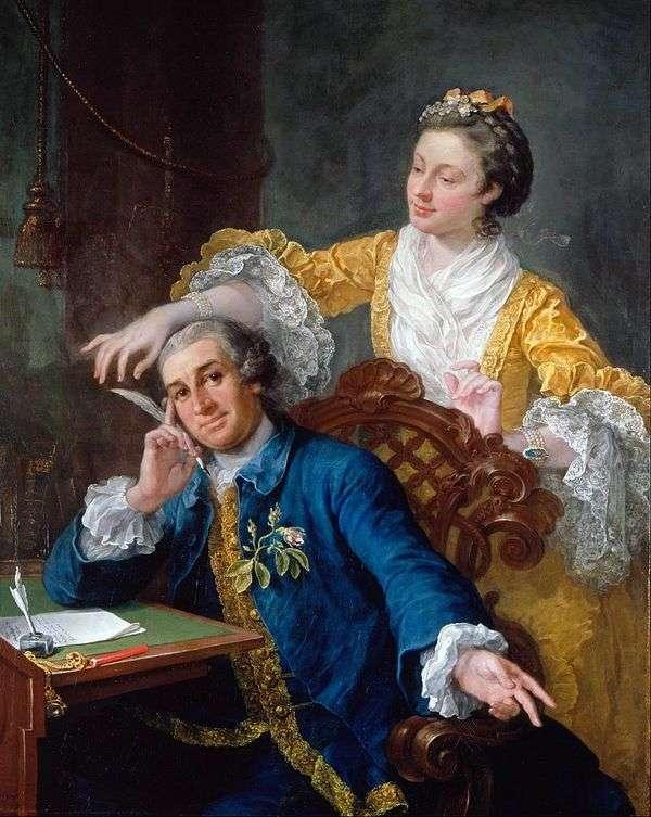 俳優のギャリックと彼の妻の肖像   William Hogarth