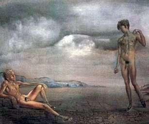 二人の若者   サルバドール・ダリ