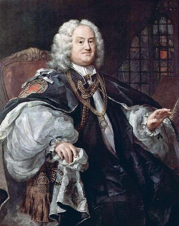Houdley司教   ウィリアム・ホガースの肖像