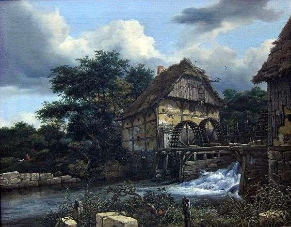 2つの水車小屋   Jacob van Ruisdal