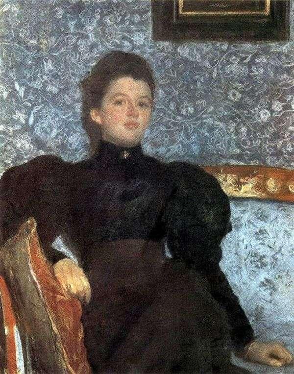 V. V. Musina Pushkina   バレンティンセロフの肖像画