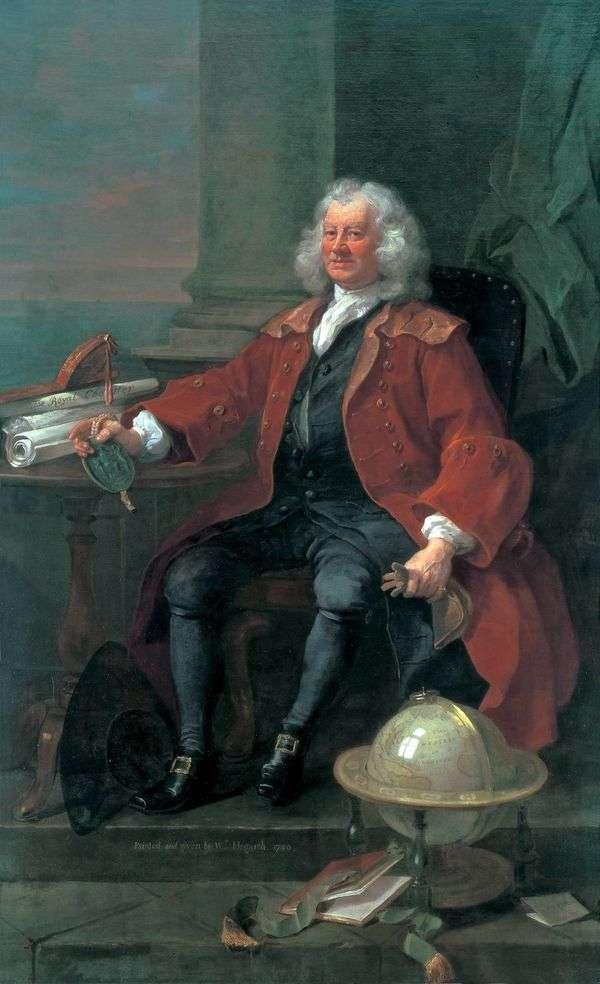 T. Korem大尉の肖像   William Hogarth