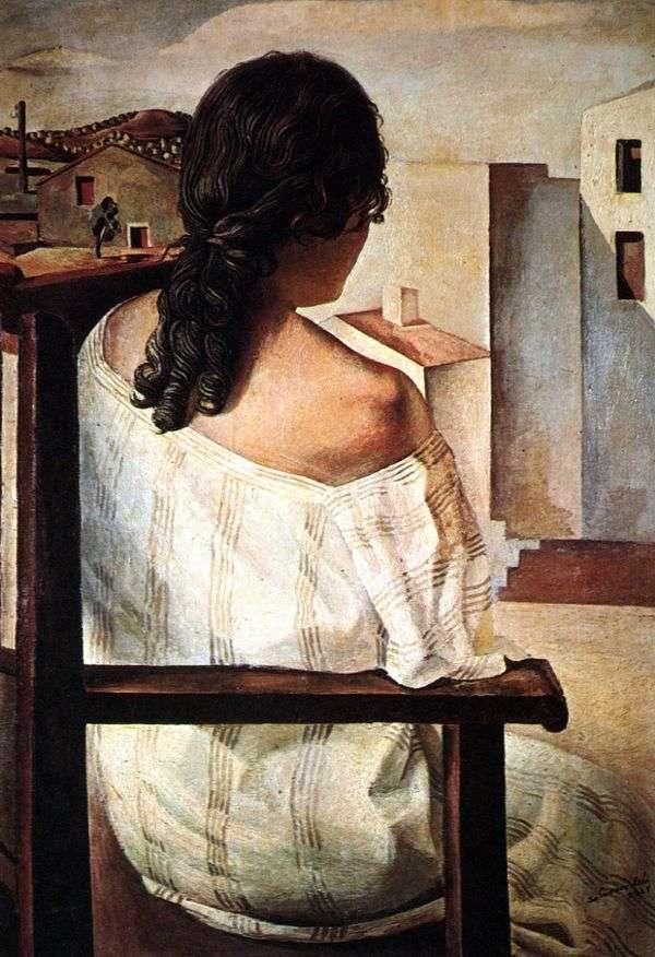 座っている女の子   サルバドール・ダリ