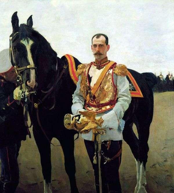 Grand Duke Pavel Alexandrovich   バレンティンセロフの肖像画