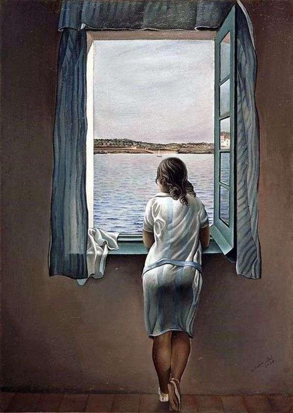 窓際の女の子   サルバドール・ダリ