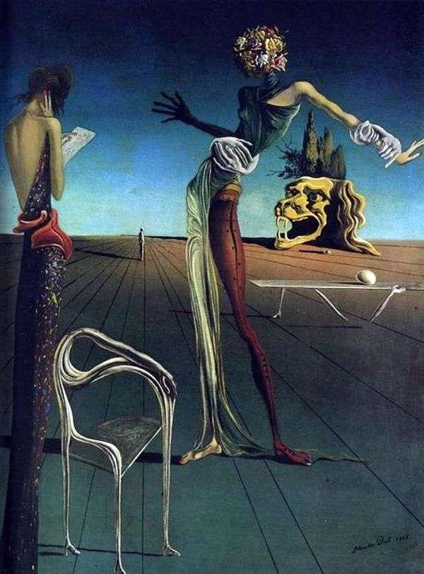 バラの頭を持つ女性   Salvador Dali