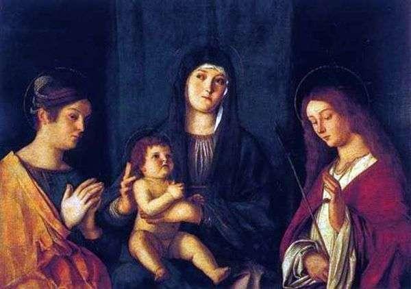 マドンナと子供、聖カタリナと聖ウルスラ   Giovanni Bellini