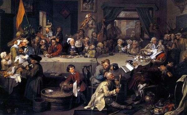 選挙前の宴会   ウィリアム・ホガース