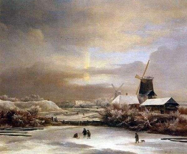 冬景色   Jacob van Ruisdal