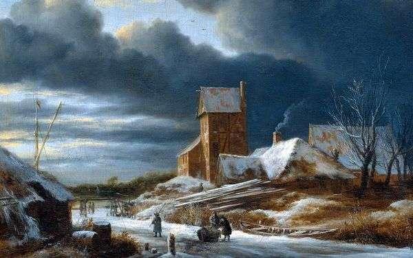冬の風景   ヤコブ・ファン・ルイスダル