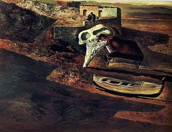蒸発した頭蓋骨はコードの上でピアノをソドマイズ   Salvador Dali
