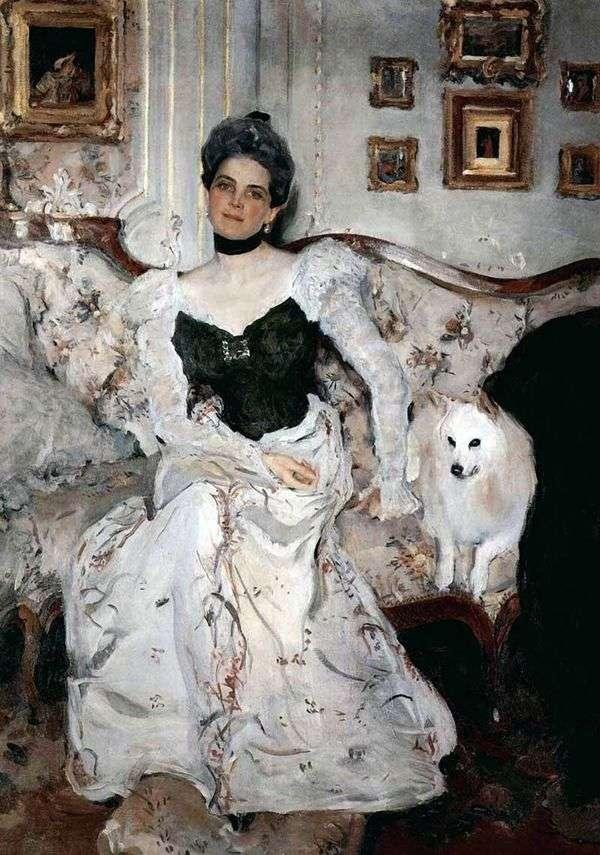 プリンセスZ. N. ユスポワ   バレンティンセロフの肖像画