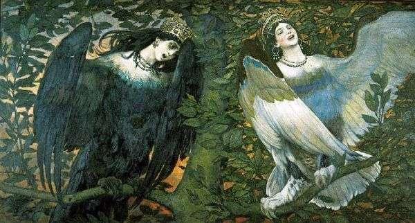 シリンとアルコノスト。喜びと悲しみの歌   V. M. Vasnetsov